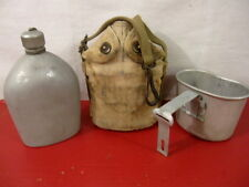 pre-WWII US Army M1917 Mounted Cavalry Canteen w/Cover & Cup - Dated 1939 - RARE
