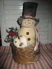 Primitive  Christmas  snowman Vintage cheesebox Holiday Decoration arrangement