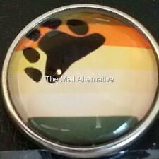 BEAR PRIDE, GAY PRIDE, Style # 1, 20mm snap button USA Seller