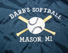 AUGUSTA SPORTSWEAR MACAU LARGE DARBS SOFTBALL MASON MICHIGAN USED WINDBREAKER !