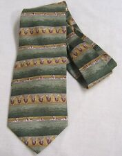 Vintage Mens Tie Etienne Aigner Abstracts Red Shields Gold Green Maroon