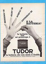 QUATTROR966-PUBBLICITA'/ADVERTISING-1966- TUDOR - BATTERIE AUTO