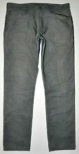 Gap 1969 Men's Skinny Dark Gray Corduroy Jeans Pants 36 X 34 EXCELLENT CONDITION