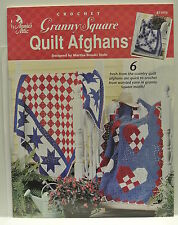 Annie's Attic. 871914. Crochet. Granny Square Quilt Afghans. By Martha Brooks St