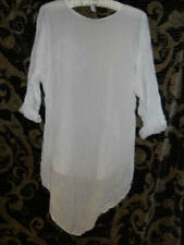 PLUS & REGULAR SIZE RITANOTIARA ESSENTIAL LAYERING WHITE SHIRT COTTON VOILE SILK