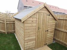 8x6 Pressure Treated Wooden Garden Shed, BRAND NEW T&G Throughout