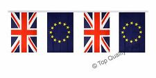 "FRIENDSHIP BUNTING Great Britain - European Union EU 16 FLAGS 15x22cm 9""x6"""