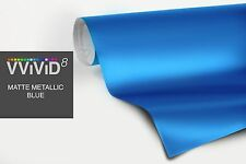 "1ft x 60"" Metallic blue matte vinyl car wrap DIY sheet roll film satin decal"
