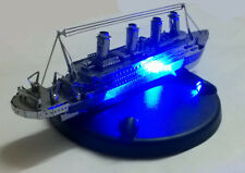 TITANIC Silver Model Kit with Blue LED Light Presentation Base Create it yourslf