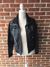 Xhilaration Black Faux Leather Jacket Women's Size M