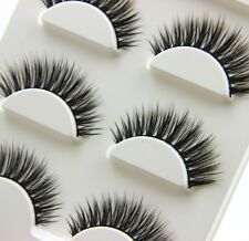Hand made 100% Real Mink Luxurious Natural Thick soft  lashes False eyelashes Z4
