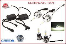 KIT H7 LAMPADE A LED LUMEN 6000K DIGITALE 12V 24V  AUTO CREE FULL LED 2600