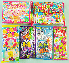 6 PCS SET / Kracie & Meiji DIY JAPANESE CANDY MAKING KIT popin cookin cake gummy