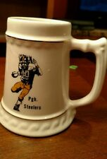 RARE NFL PITTSBURGH STEELERS Running Back Porcelain Beer Stein