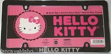 Sanrio Hello Kitty Black and Chrome Plastic License Plate Frame
