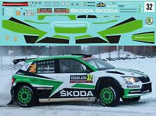 SKODA FABIA R5 TIDEMAND RALLY SVEZIA 2017 DECALS 1/43