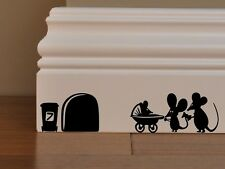 Mice Baby! Mouse  Newborn baby-carriage pram decal vinyl stickers wall art