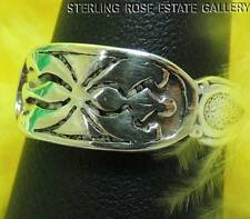 VINTAGE Spider Design Sterling Silver 0.925 Estate Band RING size 7