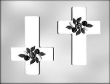 Large Cross with Flowers Chocolate Candy Mold from CK #7610 - NEW
