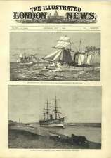 1882 Gunboats Protecting The Suez Canal Egyptian Crisis