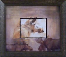 HI by Mary Roberson 14x16 FRAMED ART PRINT PICTURE Moose
