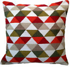 """Moroccan Style Hand Woven Cushion Covers 24"""" 60 cm Large Floor Sofa Cream Red"""