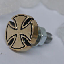 TOP stabile Zierschraube Bronze IRON CROSS  Bike screws Harley Us cars Chopper