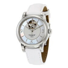 Tissot Lady Heart Powermatic 80 Mother of Pearl Dial White Leather Ladies Watch