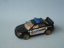 Matchbox Subaru Impreza WRX Police Car State Patrol Black Toy Model Car