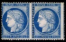 1870-73 FRANCE #58 PAIR - CERES ISSUE MOGNH - F - CV $250.00 (ESP#8548)