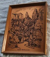 CopperCraft Copper Etching - CASTLE ROCK (CHEDDAR) by Pleasure Reproductions