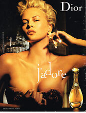 "PUBLICITE ADVERTISING 124 2006 CHRISTIAN DIOR CHARLIZE THERON parfum ""J'adore"""