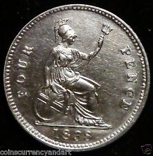 Queen Victoria 1838 4 Pence Uk - Great Britain High Quality Coin