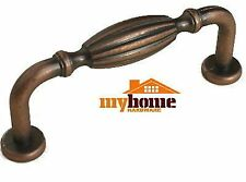 "Country French Cabinet Drawer Pulls 410 Antique Copper 3"" CC"
