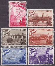 RUSSIA SU 1947 USED SC#1147/52 Moscow-Volga Canal, 10th anniversary.