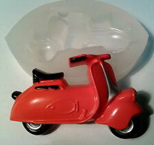 VESPA SCOOTER silicone mould   RESIN FONDANT POLYMER CLAY FIMO PLASTER WAX MOLD