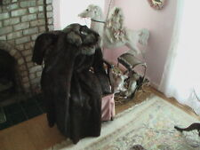 Nutria Ankle Length Ladies Fur Coat With Racoon Collar GLAMOUROUS!