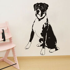 Boxer Dog Vinyl Wall Decal Cute Animal Removable Mural  Art Living Room Sticker