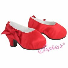 "Sophia's High Heel Pumps in Red Satin  - for American Girl & Other 18"" Dolls"