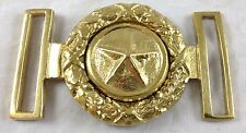 Confederate Texas Star Civil War Antique Reproduction Polished Brass Belt Buckle