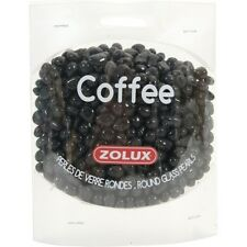 "Crystal Stone Decor Ornament for Aquarium Fish Tank -""COFFEE"" GLASS PEARLS 472g"
