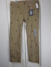 NWT Dockers Alpha Khakis 36x32 Slim Tapered Crabs All Over Tan