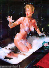 1940s Pin-Up Girl Soap In My Eyes Picture Poster Print Vintage Art Pin Up Ups
