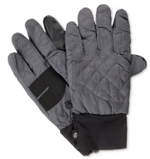 $125 ISOTONER MENS GRAY SMART TOUCH THERMAL SKI WARM WINTER GLOVES SIZE L/XL
