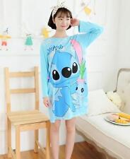 Stitch Womens Girls Cute Sleepwear Pajamas Short Sleeve Sleepshirt Nightgown