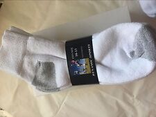 mens socks ankle / quarter 85% cotton made in pakistan 5 pairs  white 10-13