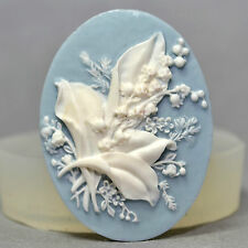 FLOWER CAMEO SILICONE MOULD sugarcraft cup cake topper polymer clay resin mold
