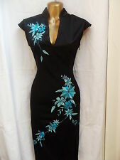 Oriental Black Turquoise Fashion Chinese dress 20 22
