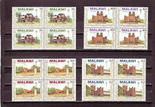 a111- MALAWI - SG829-832 MNH 1989 CHRISTMAS - CHURCHES OF MALAWI - BLOCKS OF 4