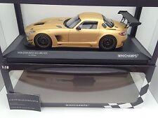 """Minichamps 1:18 MERCEDES-BENZ SLS AMG GT3 """"STREET"""" 2011 GOLD VERY RARE!"""